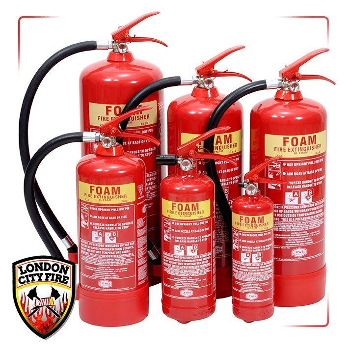 Foam Fire Extinguishers London City Fire