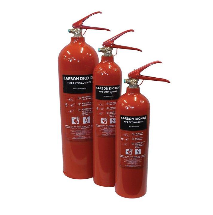 Carbon Dioxide 3 set Fire Extinguishers London City Fire