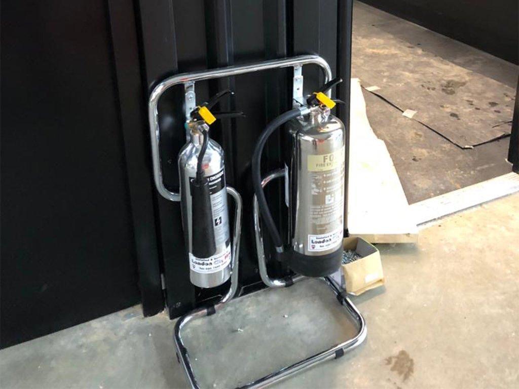 London City Fire Extinguishers display