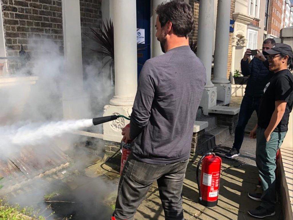 London City Fire Extinguishers training