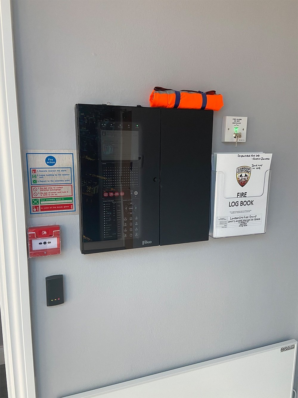 fire alarm panel fitted by london city fire
