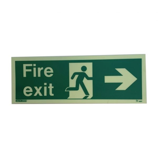 Directional Fire Exit Sign