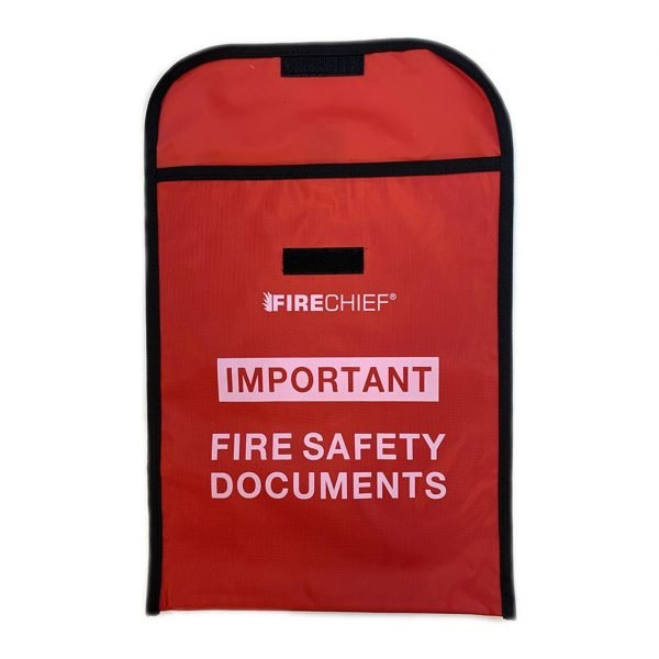 Fire document holding pouch
